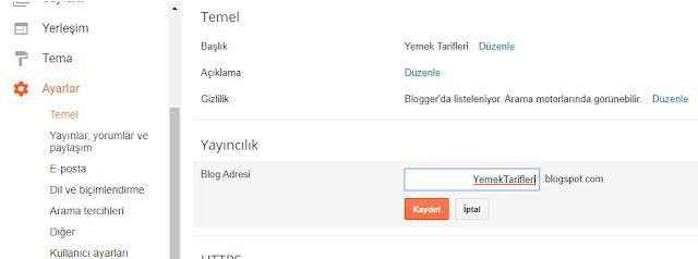 blogger domain ekleme