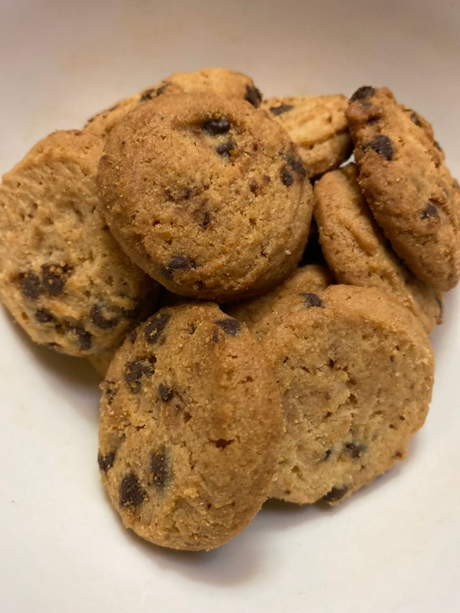 A serving of Big Oven Chocolate Chip Cookies