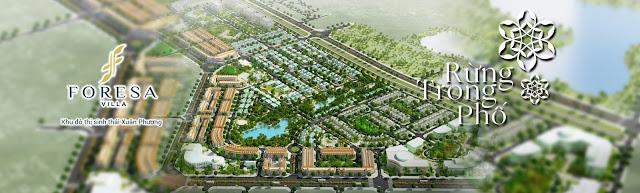 Phối cảnh dự án khu đô thị sinh thái Xuân Phương Tasco