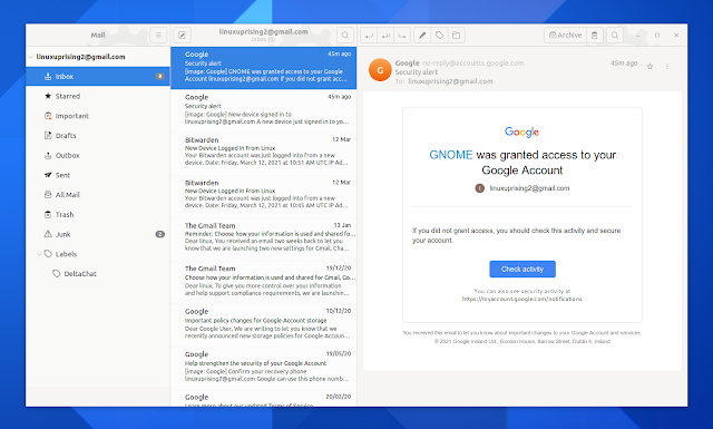 Geary 40 email client