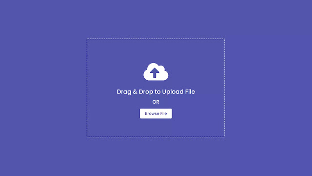 Drag & Drop or Browse - File upload Feature using HTML CSS & JavaScript