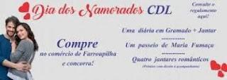Promoção CDL Farroupilha Dia dos Namorados 2019 - Diária Hotel Pousada em Gramado RS