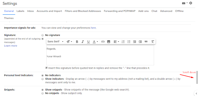 how to add signature in gmail email