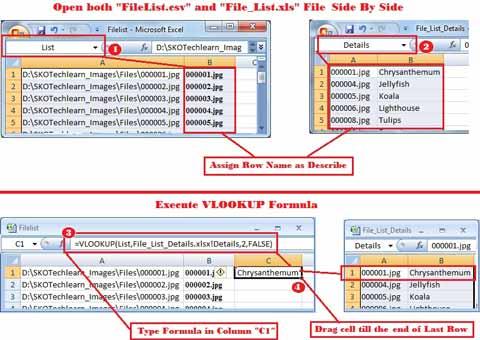 VLOOKUP Formula to rename files
