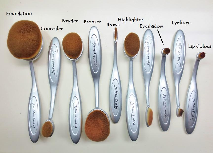my makeup brush set. vibrant, vivacious, veracious beauty blog: oval brush love: my makeup set .