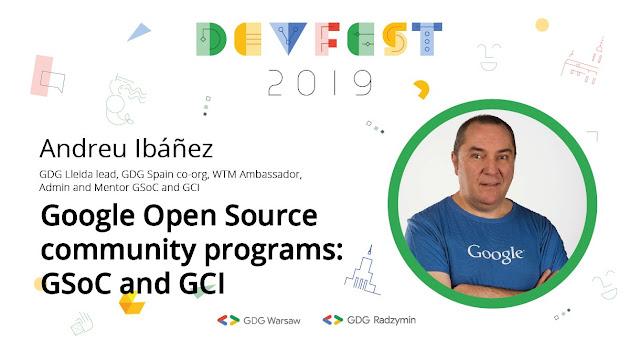 De ponencias sobre Google Summer of Code y Google Code-in en el Devfest Varsovia
