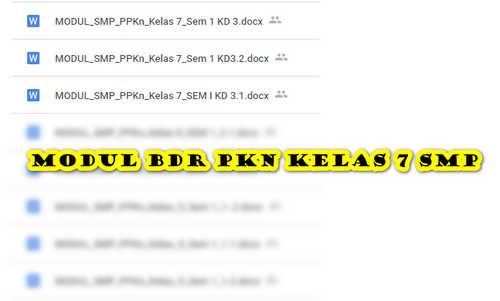 Modul BDR PKN Kelas 7 SMP/ MTs Semester 1 untuk Daring dan Luring