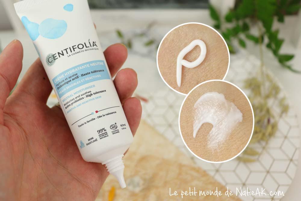 crème visage peau sensible réactive  bio