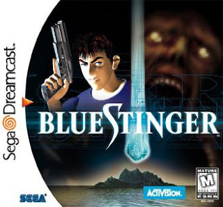 Blue Stinger Sega Dreamcast horror game Cover Art