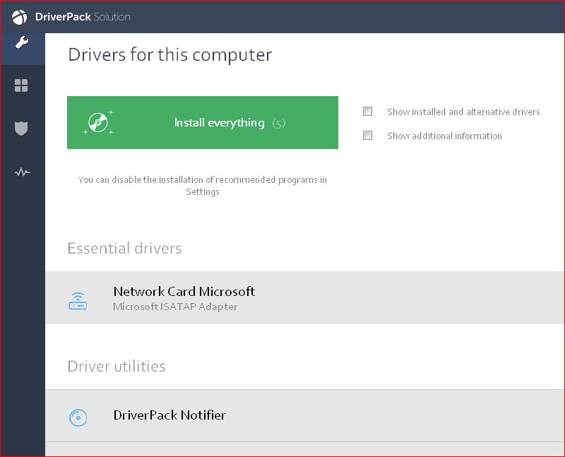 Driverpack screenshot