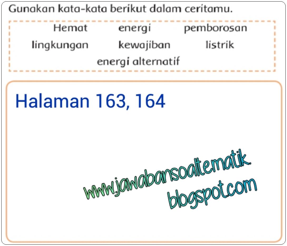 Kunci Jawaban Buku Siswa Kelas 3 Tema 6 Halaman 162, 163 ...