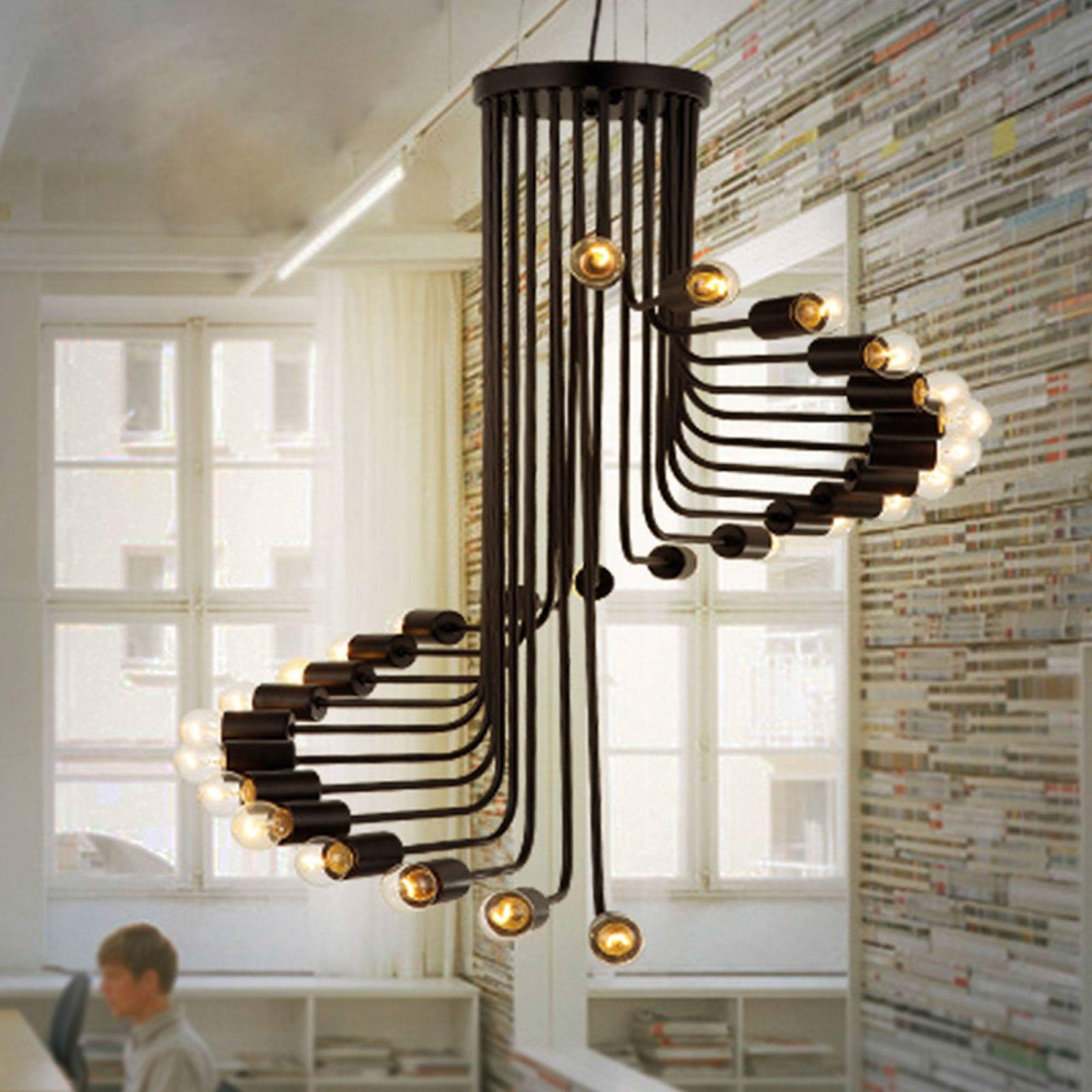 A creative artwork of used material gives a unique source of lights and adding interest to any area of your home. Explore more 50 images of New ways to light up your space to see more design.