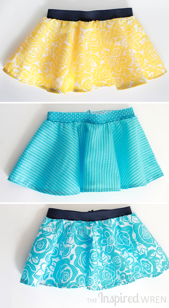 Darling! Itty Bitty Baby Circle Skirts | The Inspired Wren
