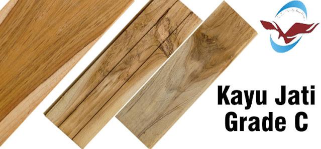 Lantai kayu grade C