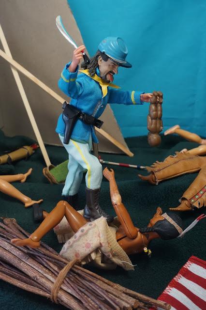 Soldado azul madelman en la masacre de Sand Creek