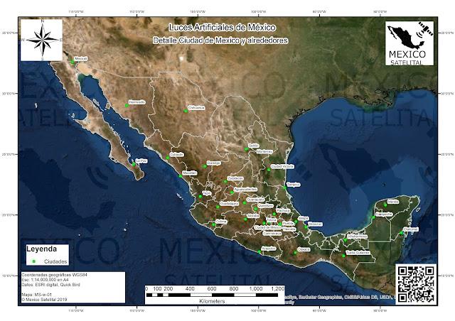 Imagen satelital de Mexico