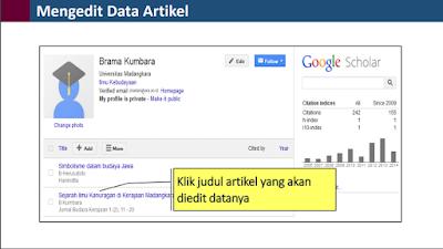 Cara Mengedit Artikel Makalan Google Scholar