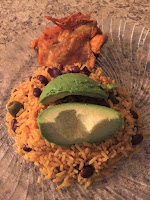 Rice and Beans-Chicken-Avocado