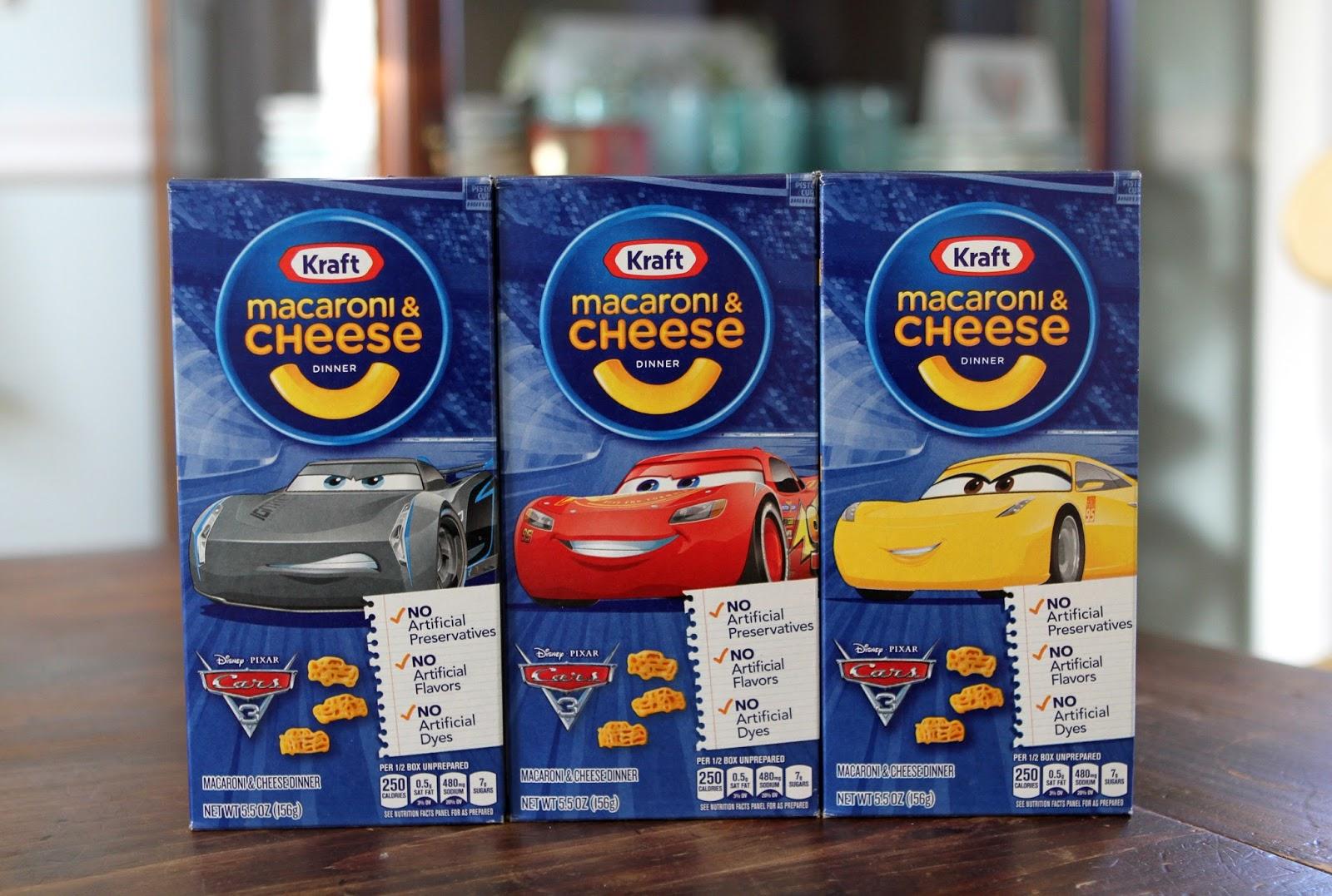 pixar Cars 3 Kraft Macaroni & Cheese