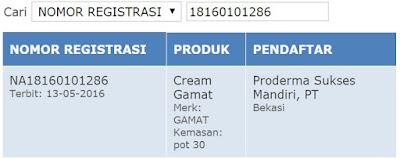 Bpom Cream Gamat Hpa