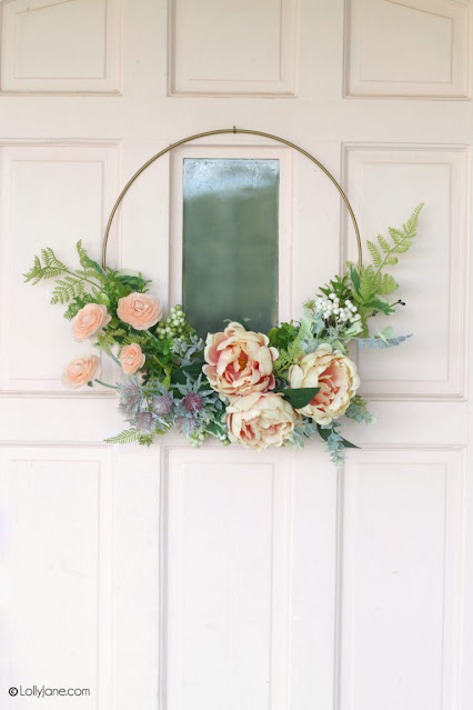 how to make a simple spring wreath