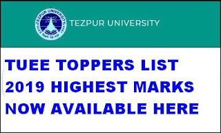 TUEE Toppers List 2019 Highest Marks 1st 2nd 3rd 4th 5th 6th 7th 8th 9th 10th Ranks 1