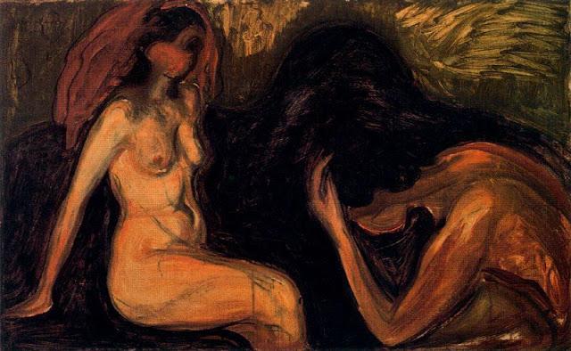 Эдвард Мунк - Мужчина и женщина. 1898