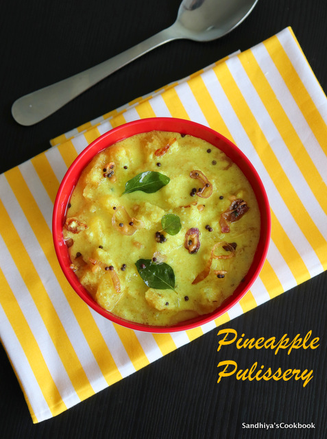 Pineapple Pulissery | Pineapple Pachadi | Pulissery Recipe