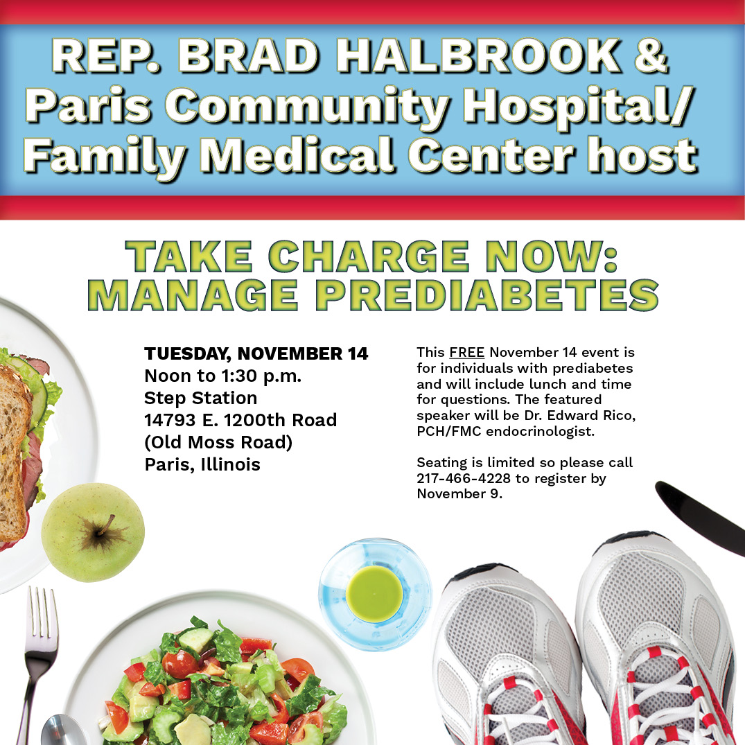 Illinois state representative brad halbrook rep halbrook joins halbrook joins paris community hospital to bring awareness to the diabetes health issue sciox Gallery