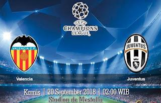 Prediksi Valencia vs Juventus 20 September 2018