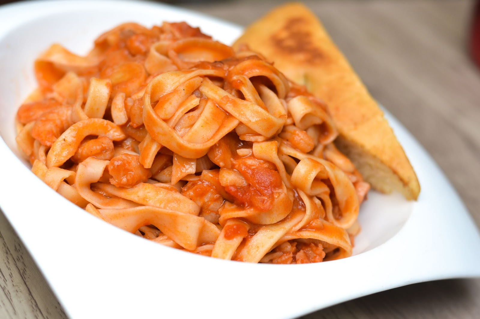 tagliatelle and marinara sauce in lagos