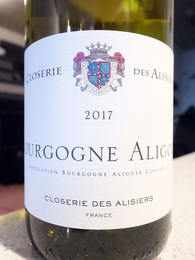 Closerie des Alisiers Bourgogne Aligoté 2017 (89 pts)