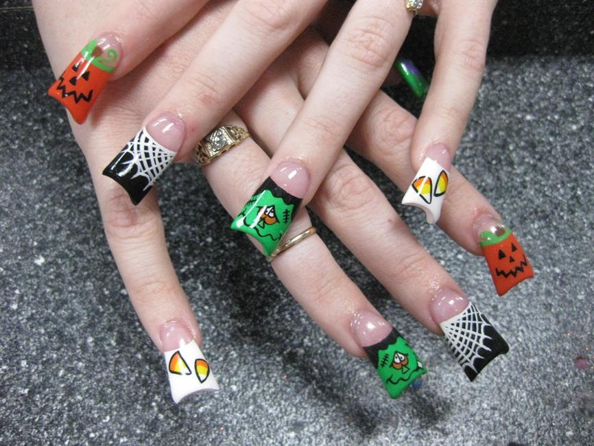 easy halloween toe nail designs