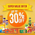 ITC Super Value offer -  30% off on all products