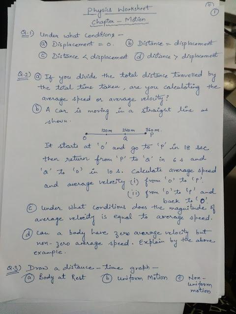 APS, Golconda   Priyanka Gupta: CLASS 9 / PHYSICS PRACTICE QUESTIONS