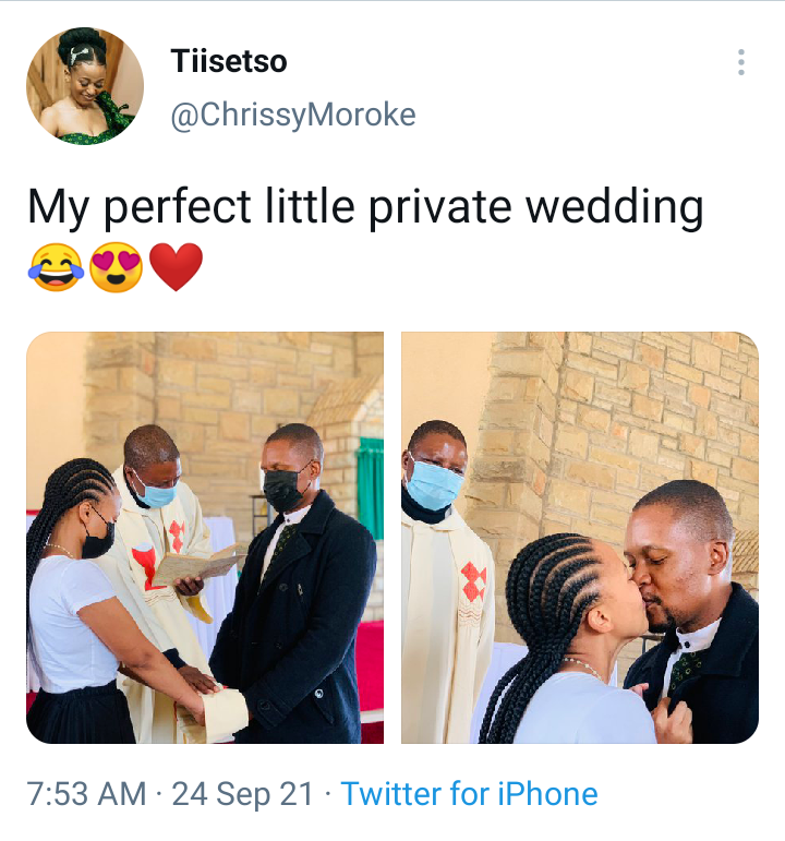 Lady shares lovely pictures from her private wedding, What do you think? (See photos)