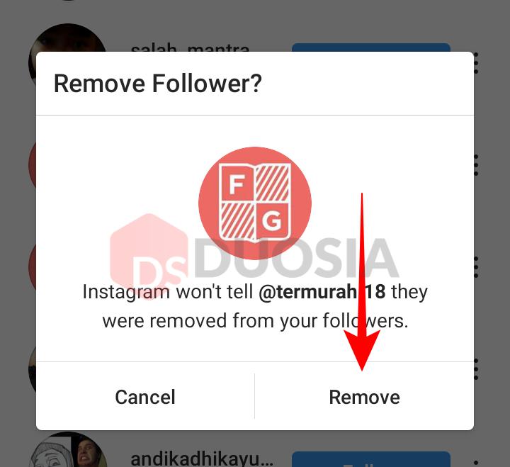 cara hapus semua follower ig
