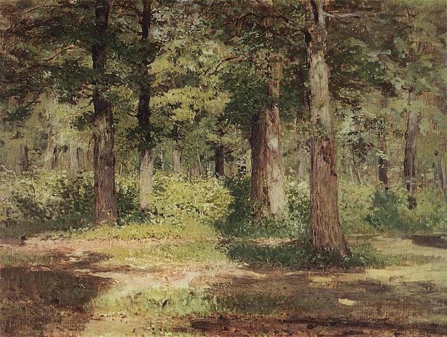 Исаак Ильич Левитан - Лес. Солнечный день. 1883-1884
