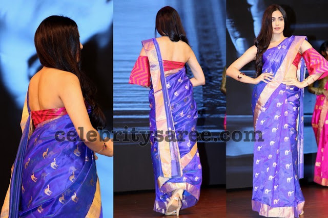 Adah Sharma Printed Silk Saree