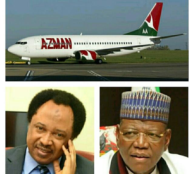 Shehu Sani, Sule Lamido, Cheats Death As Azman Air Almost Crash While Hovering  On Air