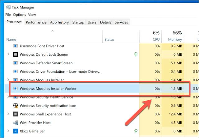Fix high CPU Windows Modules Installer Worker (TIWorker.exe)