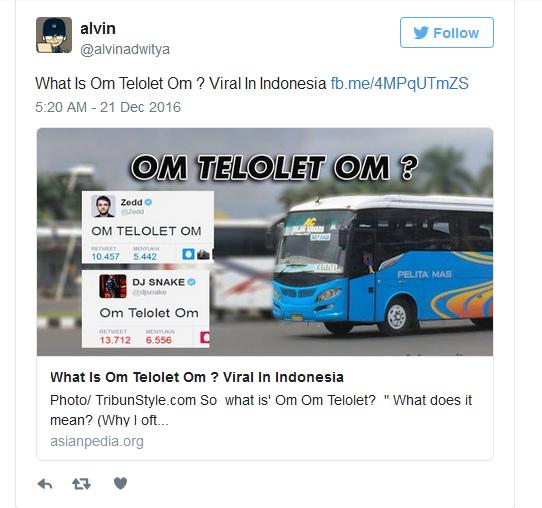 """Kumpulan """"Om Telolet Om"""" Mendunia"""