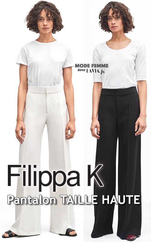 Pantalon Femme Taille Haute Noir Ou Blanc Filippa K