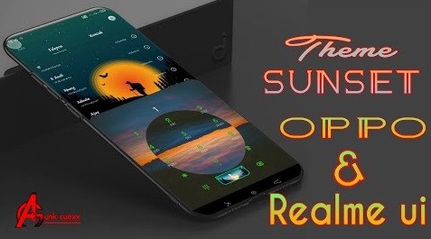 Download Theme Sunset For Realme Ui dan Oppo Color oS 5,6&7