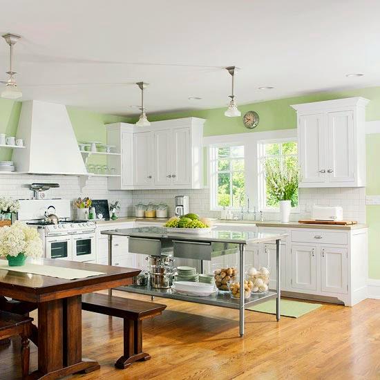 Gunakan Warna Yang Serupa Antara Dapur Dan Ruang Makan
