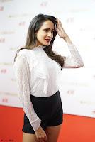 Pragya Jaiswal in lovely Black Mini Skirt and White Transparent Shirt ~  Exclusive 015.JPG