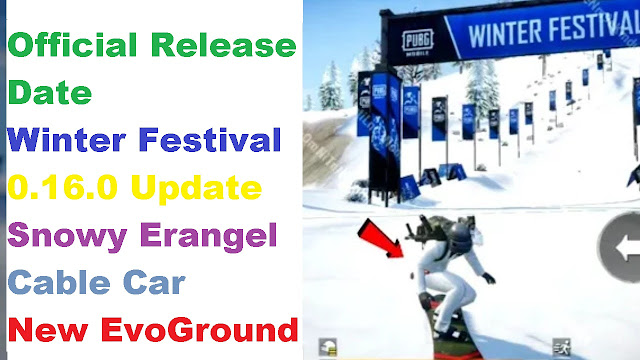 PUBG Mobile Snowy Erangel, Cable Car, winter update 0.16 release date