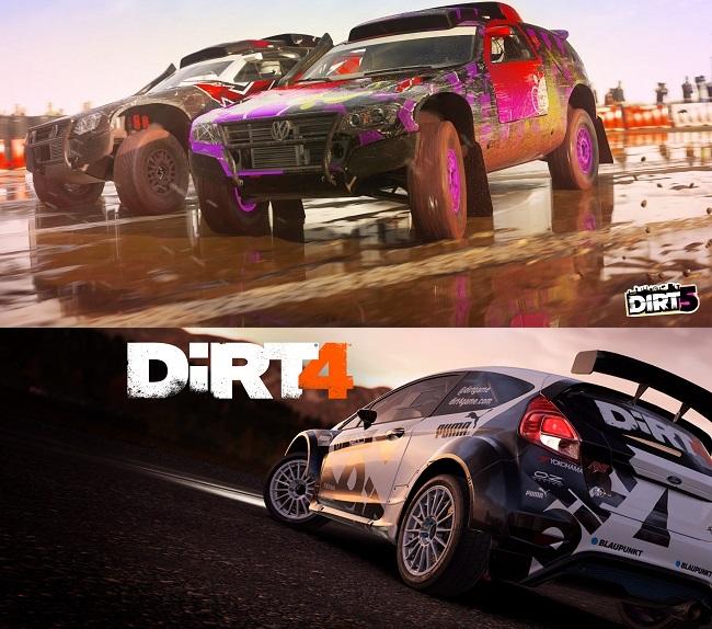 Dirt 5 vs Dirt 4 Graphics