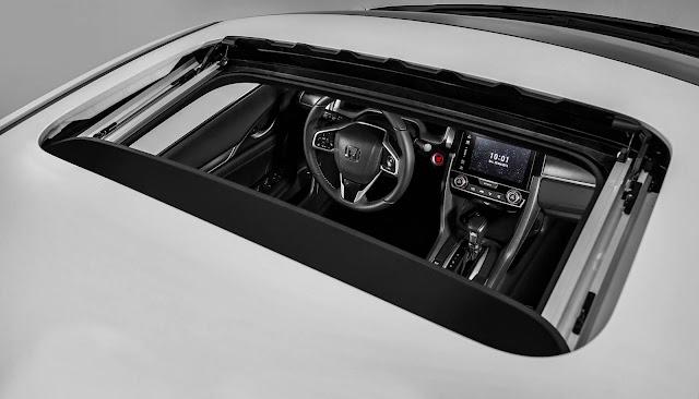 Novo Honda Civic 2017 Touring - teto-solar