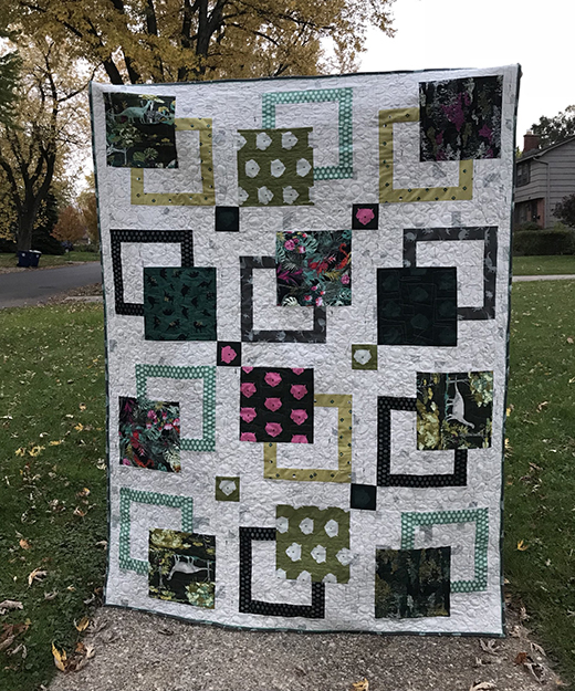 Travels to Esoterra Quilt Free Pattern designed by Marija of Mara Quilt Designs